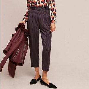 NWT Anthro Cartonnier Line Work Belted Trouser